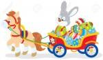 26335484-lapin-portant-oeufs-de-pâques-dans-un-panier-avec-un-poney